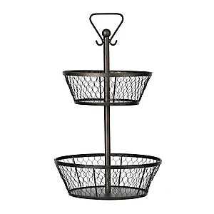 Chicken Wire 2-Tier Basket