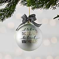 Teacher's Heart Christmas Ornament