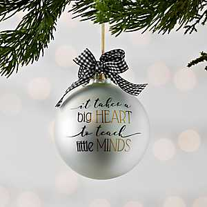 Teacher's Heart Christmas Ornament