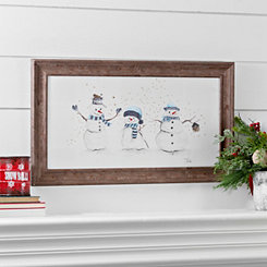 North Pole Snowmen Framed Art Print