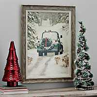 Winter Park Truck Framed Art Print
