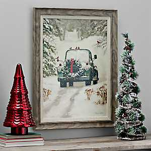 Winter Park Truck Framed Art Print
