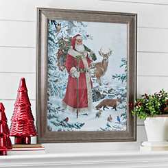 Santa Nature Walk Framed Art Print