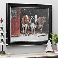 We Three Queens Cows Framed Art Print