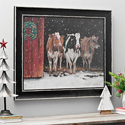 We Three Queens Cows Framed Art Print