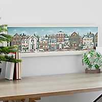 Christmas Village LED Framed Art Print