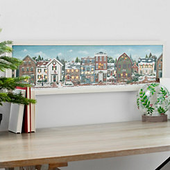 Christmas Village LED Framed Art Print