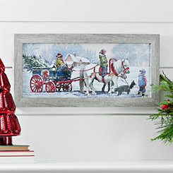 Winter Pony Ride Framed Art Print