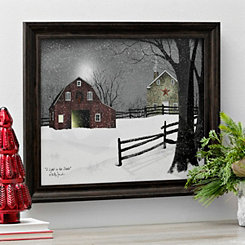 Light In The Stable Framed Art Print