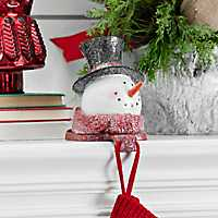 Top Hat Snowman Mantel Stocking Holder