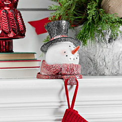 Top Hat Snowman Mantel Stocking Holder