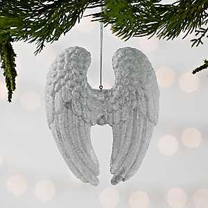 Platinum Acrylic Angel Wings Ornament
