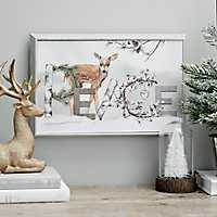 Peace Deer Box Top Framed Art Print
