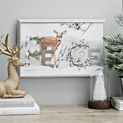 Peace Deer Box Top Framed Art Print