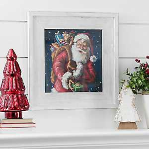 Santa With Sack Framed Art Print