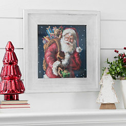 Santa With Sack Framed Art Print