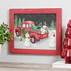 Christmas On Wheels Framed Art Print