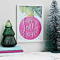 Happy Jolly Days Framed Art Print