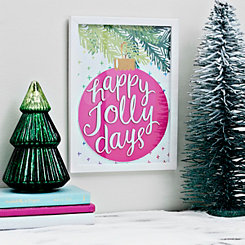Happy Jolly Days Framed Art Print