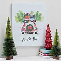 Ho Ho Ho Car Canvas Art Print