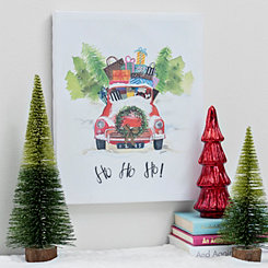 Ho Ho Ho Car Canvas Art Print