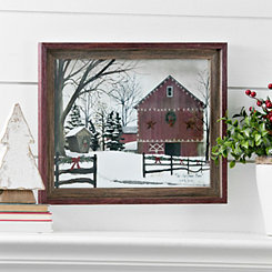 The Christmas Barn Framed Art Print