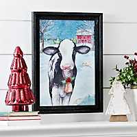 Merry Cow Framed Art Print
