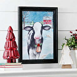 Merry Cow Framed Art Print