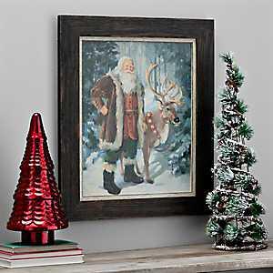 Woodland Santa Framed Art Print