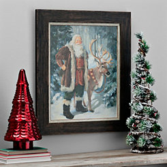 Woodland Santa Framed Art Print