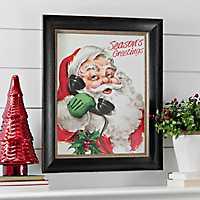 Season's Greetings Santa Framed Art Print