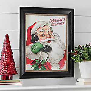 Season's Greetings Santa Framed Art Print