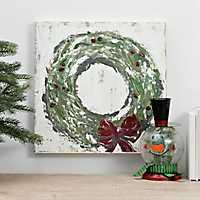 Christmas Wreath Canvas Art Print