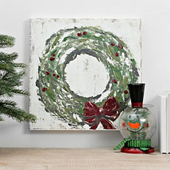 Christmas Wreath Canvas Art Print