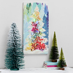 O Christmas Tree LED Canvas Art Print