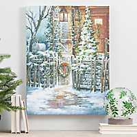 Lightbox Door LED Canvas Art Print