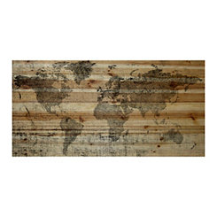 Lost in the World Wood Art Print