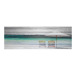By The Beach Canvas Art Print