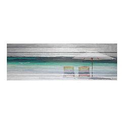 By The Beach Canvas Art Print