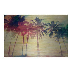 Red Palms Metal Art Print