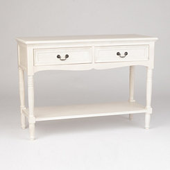 Ava Ivory Console Table