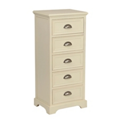 Ivory 5-Drawer Farmhouse Chest