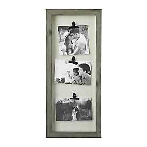 Washed Gray 3-Clip Collage Frame