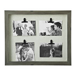 Washed Gray 4-Clip Collage Frame