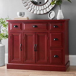 Tuscan Red 3-Door Cabinet