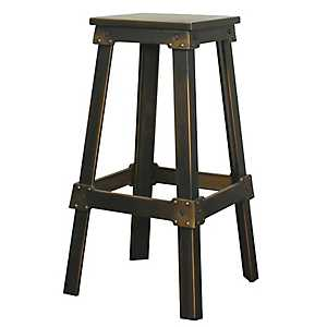 Distressed Copper Metal Bar Stool