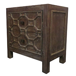 Antique Brown Skylar Side Table