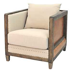 Grace Faux Leather Accent Chair