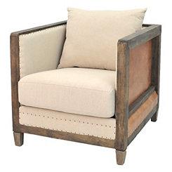 Grace Faux Leather Accent Chair