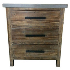 Rustic Brown Jayden Side Table